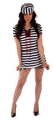 FANCY DRESS HALLOWEEN FEMALE PRISONER COSTUME ONE SIZE 10-14](Female Prisoner Costumes)