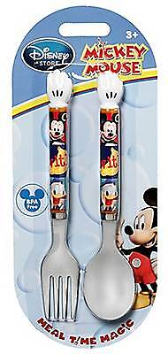 Disney Store Mickey Mouse Clubhouse Kid's Fork & Spoon Set