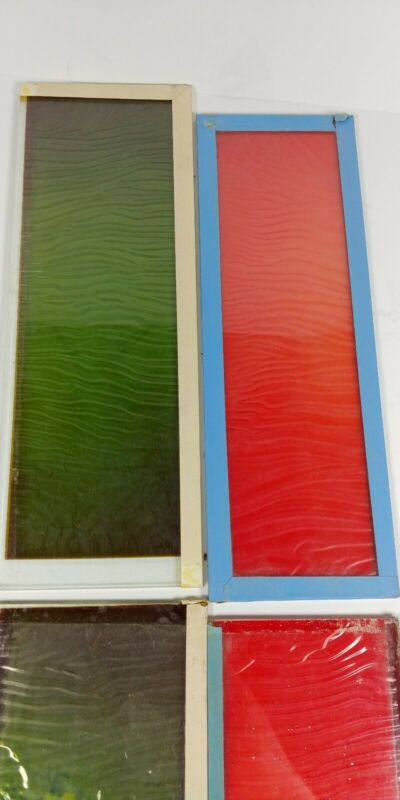 Thomas Duplex Super Safelight Replacement Glass Panels Red and Green