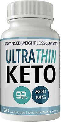 Ultra Thin Keto Pills 800mg Advanced Ketones BHB Ultrathin Ketogenic Suppleme...