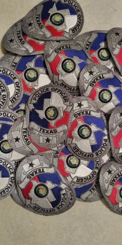 Lot Of 2 TX reflective Badge Patches