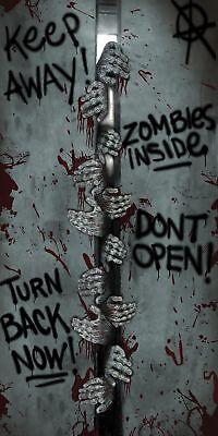 Tür Abdeckung- Zombies Innen Plastik Wandbild Halloween Dekoration - Halloween Dekor Tür