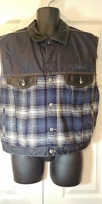 DIESEL Vintage Star Series Denim Men's Plaid Nylon Vest sz L RARE!!!