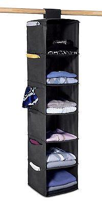 6 Shelf Hanging Sweater Organizer - Hanging Shelves Easily Attach to Closet -