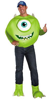 Mike Luxus Erwachsene Herren Kostüm Disney Pixar Monster Halloween Verkleidung ()