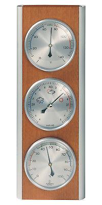 - Hokco Weather Station Barometer Thermometer Hygrometer Aluminum Cherry Finish