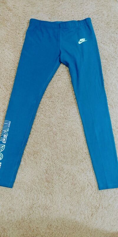 Nike Tight Fit Leggings Blue Size Large for Girls