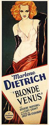 Blonde Venus (1932) Marlene Dietrich Cary Grant movie poster print