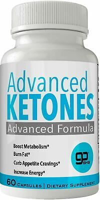Advanced Ketones Natural BHB Ketogenic Weight Loss Pills 60 Capsules New True...