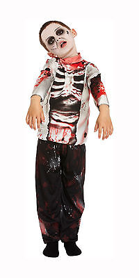 Kids Zombie Boy Halloween Fancy Dress Costume Child Trick Or Treat Dressing Up