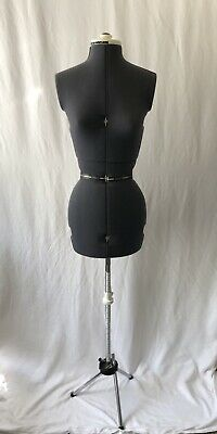 Vintage Mannequin Adjustable Dress Form With Stand Small Woman Seamstress