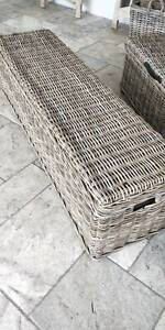 OTTOMAN STORAGE TRUNK RATTAN CANE HAMPTON PROVINCIAL STLYE NEW Bayview Pittwater Area Preview