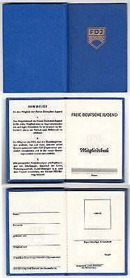 DDR FDJ Ausweis  ,   Mitgliedsbuch , blanko