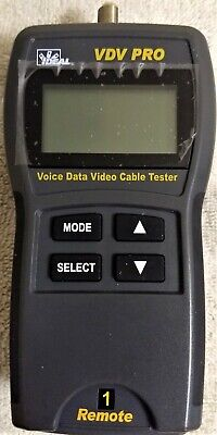 Cable Tester For Voicedatavideo Vdv Pro W1 Remote And Terminator