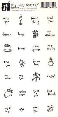 WordsWorth STICKERS Choice of Witty Bitty Phrase & More CAT WORDS QUOTE ICONS