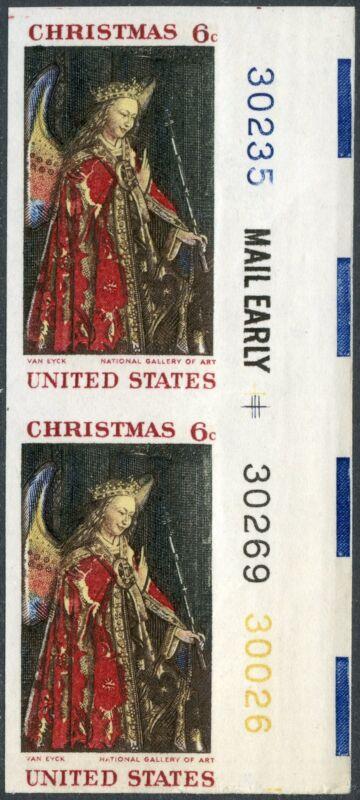 "#1363d ""christmas 6¢"" Imperf Pair Major Error Bp2673"
