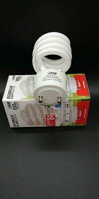 ECOBULB SOFTWHITE 23w = 100w Compact Fluorescent Daylight GU24 Bulb 1600 Lumens