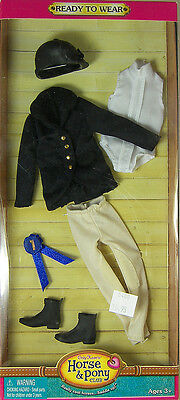 ONLY HEARTS HORSE & PONY CLUB BLACK ENGLISH RIDING OUTFIT for 9