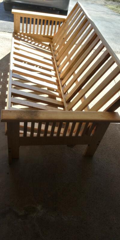 wooden futon frame ONLY no bedding.