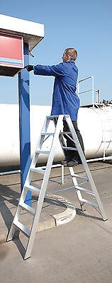 Stehleiter Bockleiter Alu Industrie beidseitig 2 x 8 ganze Stufen