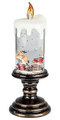 Melinera Kerze mit Schneekugelfunktion Dekoration Beleuchtung *B-Ware