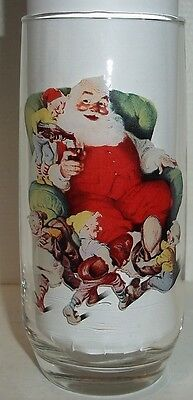 LOT#66 VINTAGE SERIES 1 COCA COLA HADDON SUNDBLOM SANTA COLLECTORS GLASS 2 OF 3