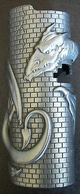 Mystic Cigarette Cigar Lighter Case Pewter Dragon Brick Gothic Biker  Scary
