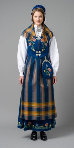 AUTHENTIC Norwegian BLUE NORDLANDS BUNAD NORWAY Custom assembled for your size