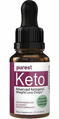 Purest Keto Appetite Suppressant Drops Liquid Fatburner Weight Loss Drops | C...