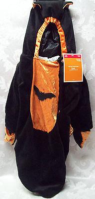 Halloween Black Bat Costume Baby Target XS Sm Cape Pajama PJ OnePc Infant - Target Baby Halloween