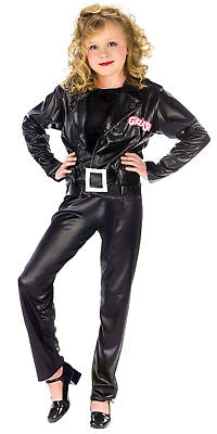 Sandy Child Costume Grease Movie Black Leather-look Halloween](Sandy Grease Child Costume)