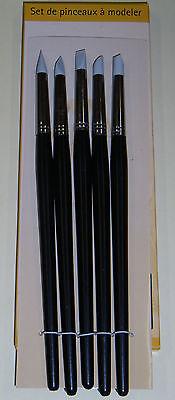 Set de pinceaux à modeler 5 Pcs de la marque MILOMEX..