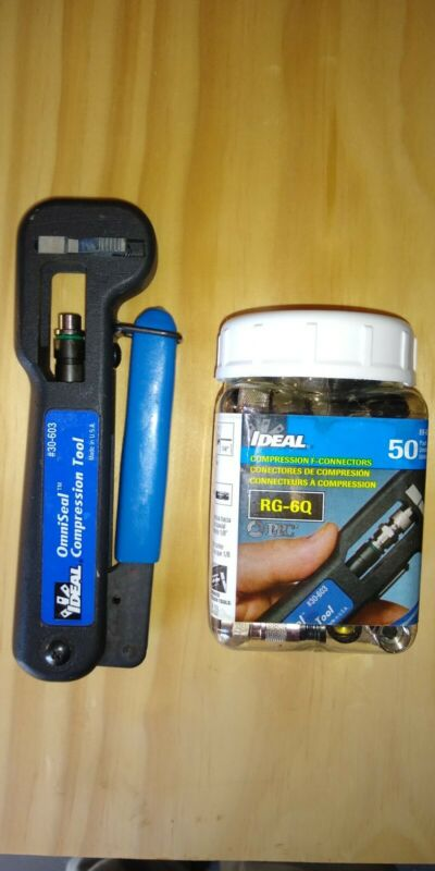 Ideal Industries 30-603 Uniseal Compression Tool OmniSeal Pro WITH 50 RG-6Q