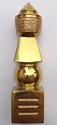 FENG SHUI BRASS GOLD 5 FIVE ELEMENT PAGODA PROTECTION