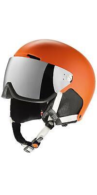 Crivit Pro Ski- und Snowboardhelm mit Visier orange Gr. S/M mit Kratzer *B-Ware