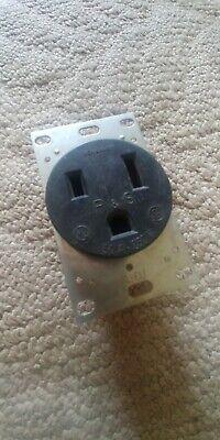 Pass /& Seymour Pass /& Seymour #3804CC6 50A Black FlushPWR Outlet,No 3804CC6