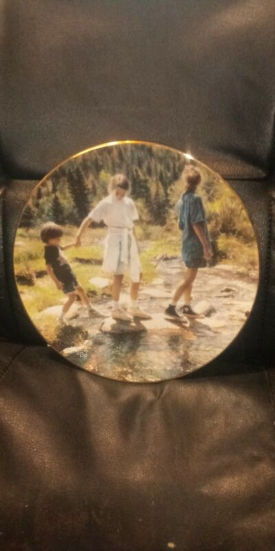"""Steve Hanks, 8"""", Collector Plate, """"Stepping Stones, 2097A, Hadley, , 1995."""