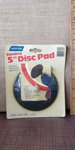 NORTON - Sanding Disc Pad -- 5 inches -- New Old Stock -- USA MADE