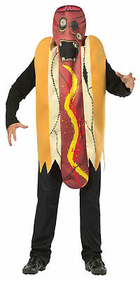 Zombie Hot Dog Funny Adult Costume Over The Head Tunic Halloween Rasta Imposta - Hot Zombie Halloween Costumes