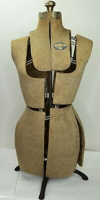 Vintage Acme L M Size A Adjustable Dress Form Mannequin Metal Stand