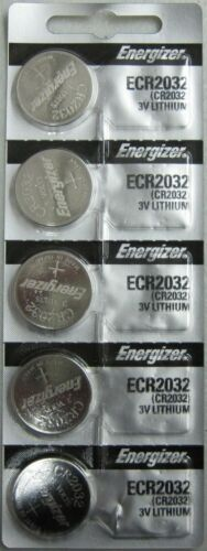 5 Genuine Energizer 2032 Battery CR2032 Lithium 3v