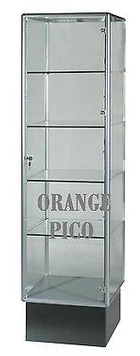 Brand New Aluminum Frame Full Vision Tower Case Showcasebel - Bellisimo