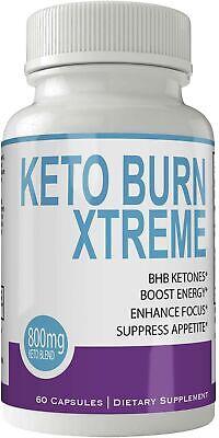 Keto Burn Xtreme Weight Loss Pills, Natural Ketogenic Burn Fat Supplement, 80...