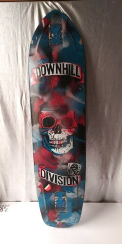 "DOWNHILL DIVISION 39 1/4"" ARROW LONGBOARD SKATEBOARD DECK. CUSTOM ARTWORK"
