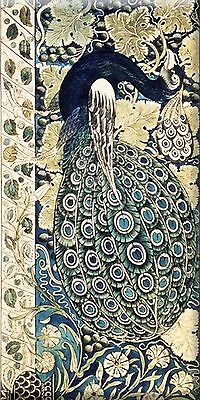 Art Nouveau Reproduction 3 X 6 Inches Ceramic Wall Tile #007