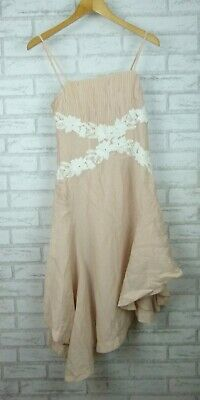 Keepsake The Label Jetset Shell Short Sleeves Dress All Mine Nude/Soft Pink Sz S