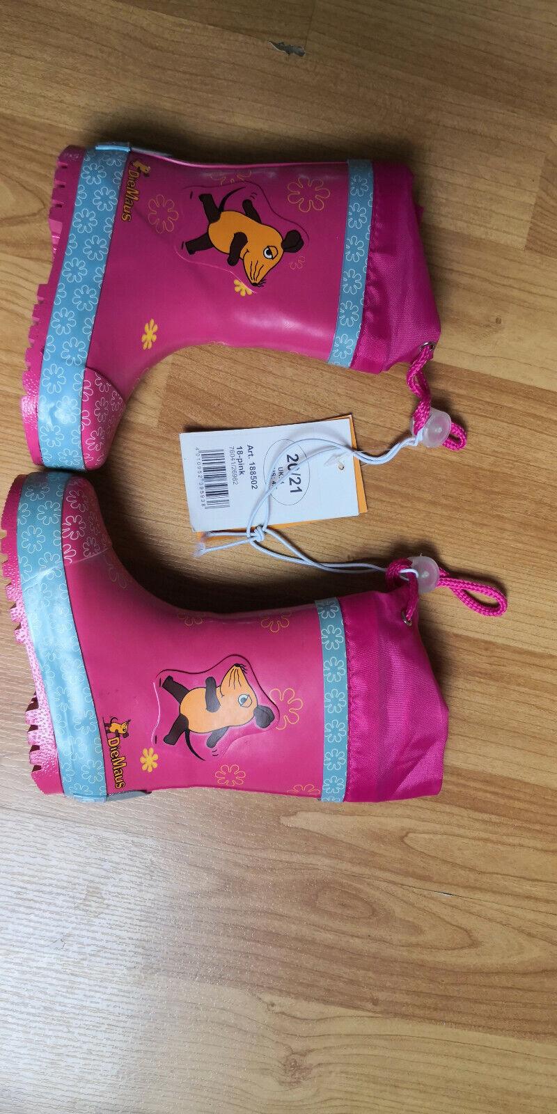 1 Paar Baby Regenstiefel Schuhe die Maus pink rosa Gr.20/21 NEU PLAYSHOES