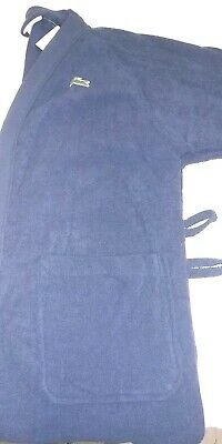 Lacoste Classic Pique Bath Robe 100% Cotton One Size Navy Missing Tie