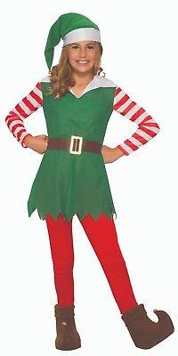 Child Santa's Helper Girl Elf Christmas Costume - Elf Girl Costume