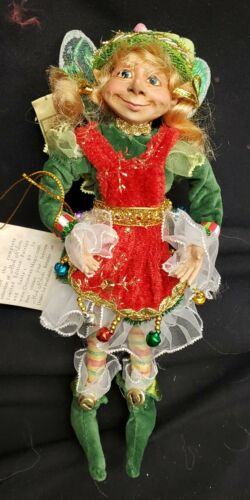 "Morgue Sale: Mark Roberts Jingle Bell Pixie 8"" Retired  2012 in box"